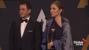 Absent Iranian director represented by NASA director, former astronaut backstage at Oscars