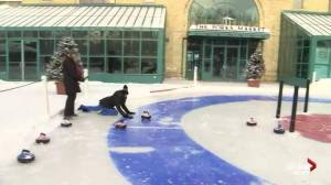 Enjoy some winter fun with Crokicurl at The Forks
