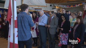 New Canadians welcomed into the Canadian family in citizenship ceremony