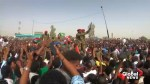 Celebrations in parts of Sudan following Bashir's resignation