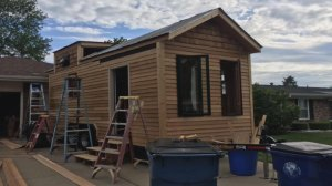 Tiny house allegedly stolen after woman spent two years building it