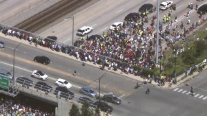Chicago highway closed by anti-violence protest