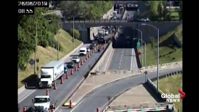 Mercier Bridge roadwork causes major delays
