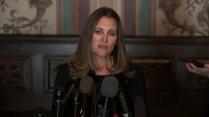 Freeland says attacks on PM 'not the way to conduct business'
