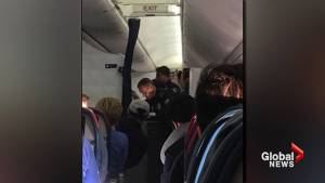 Delta flight attendants break two wine bottles over head of unruly passenger
