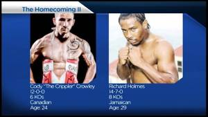 Cody Crowley readys for fight