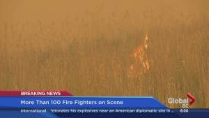 Burns Bog fire continues to burn Monday morning (05:10)