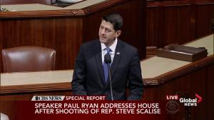 Paul Ryan addresses shooting 'without these two heroes, many lives would have been lost'