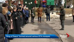 Symbolic 'rings of peace' form around GTA mosques