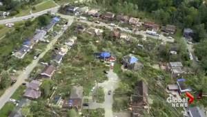 The Ottawa tornado's path of destruction
