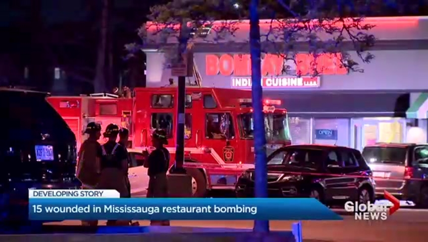 15 hurt after bomb explodes at Toronto-area restaurant