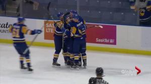 Saskatoon Blades finish off Moose Jaw Warriors 5-4