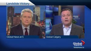 UCP leader Jason Kenney speaks to Global Edmonton after byelection victory