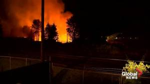 Massive fire at pallet facility in Oregon