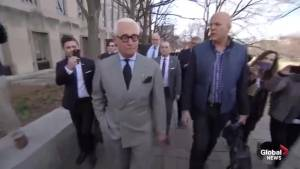 Roger Stone tells reporters: 'I'm going back to work'