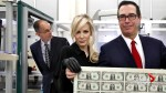 Trump treasury chief Steven Mnuchin and wife tour currency printing facility, photo goes viral