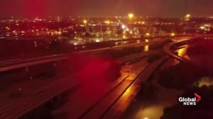 Hurricane Harvey: Drone video captures widespread flooding in Houston
