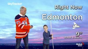 Stollery kid Mason Thomas joins the Edmonton weather forecast