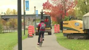 Cyclists concerned about Lachine Canal construction (02:10)