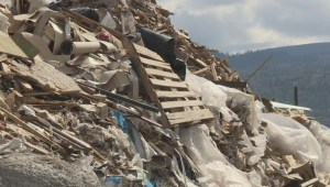 Questions surround mountainous waste pile near Penticton as company's finances trashed