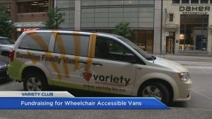 Variety fundraising for wheelchair chair accessible family vans