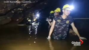 Thai navy carries supplies into cave as rescue options mulled