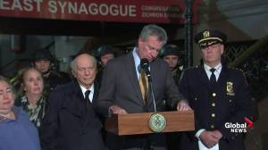 Victims should not be blamed says NY mayor after Trump's comment about 'protection' in Pittsburgh synagogue