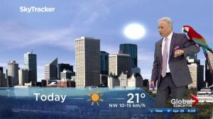 Edmonton early morning weather forecast: Thursday, April 26, 2018