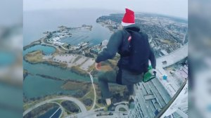 Residents warned after man filmed BASE jumping off Humber Bay condo