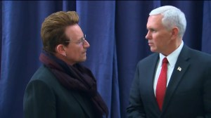 Mike Pence, Bono hold impromptu meeting in Germany