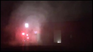Warehouse fire in Cobourg
