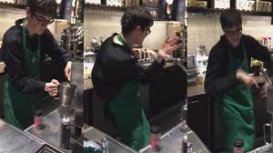Starbucks barista with autism channels sudden movements into dance moves