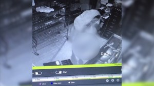Caught on Camera: Naked burglar robs Baltimore pizza restaurant