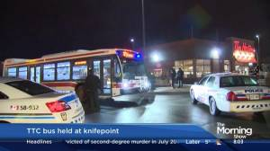 Man arrested after forcing bus driver at knifepoint to pull into Tim Hortons: police