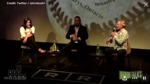 Kelly Gruber pulled from Canadian Baseball Hall of Fame weekend event for controversial comments (01:35)