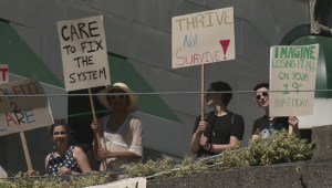 Youth in Care call protest held in Vancouver