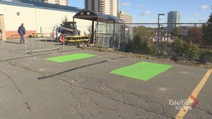 Halifax designated smoking area briefly replaces 2 accessible parking spots