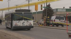 Police say woman hit and killed by bus had right of way