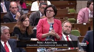 MP Niki Ashton calls pushing incident with Justin Trudeau 'unacceptable'