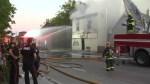 Firefighters battle house fire on Selkirk Avenue