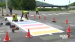Province clarifies confusion over rainbow crosswalks