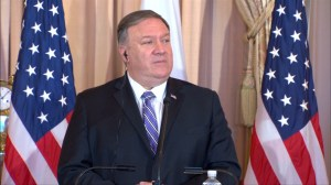 Pompeo reaffirms 'tough' stance on Russia over election meddling