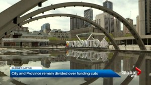 Toronto, Ontario government remain divided over budget cuts