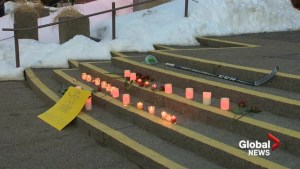 Vigil for Humboldt Broncos player Logan Boulet held in Lethbridge