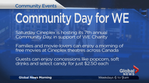 Community Events:  Free Movies for We Day