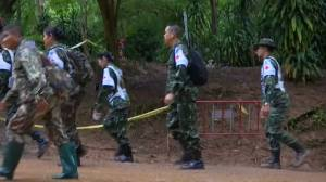 Rescuers plan to send food to boys in Thailand cave while attempting to figure out how to free them