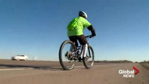 82-year-old man cycles 100,000 km to support sports academy