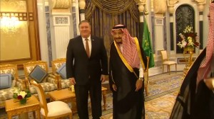 U.S. Secretary of State Pompeo meets Saudi king to discuss disappearance of Saudi journalist