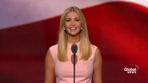 Ivanka Trump gets standing ovation after stating gender equality at Donald Trump's companies