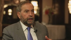 Tom Mulcair discusses his plan to address the Syrian refugee crisis